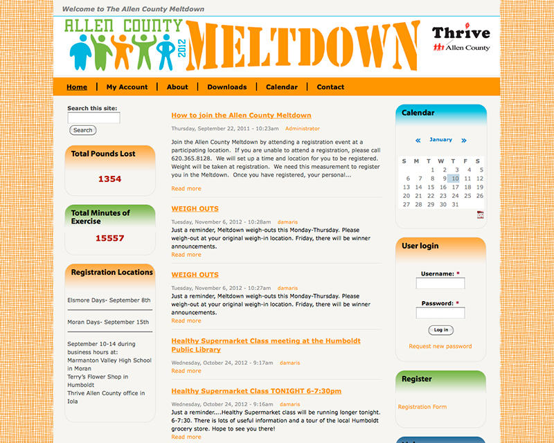 image for allen county meltdown website