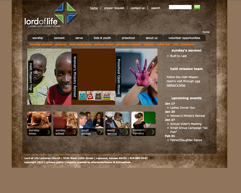 image of lord of life luthern church website